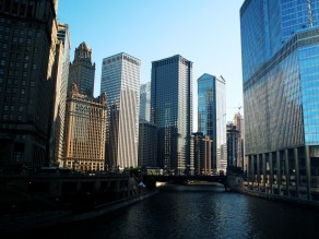 Sunny afternoon in the city, Chicago