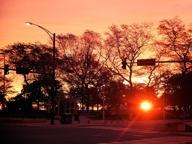 Sunrise on Michigan Ave