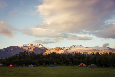 Skaftafell National Park Campground, Iceland
