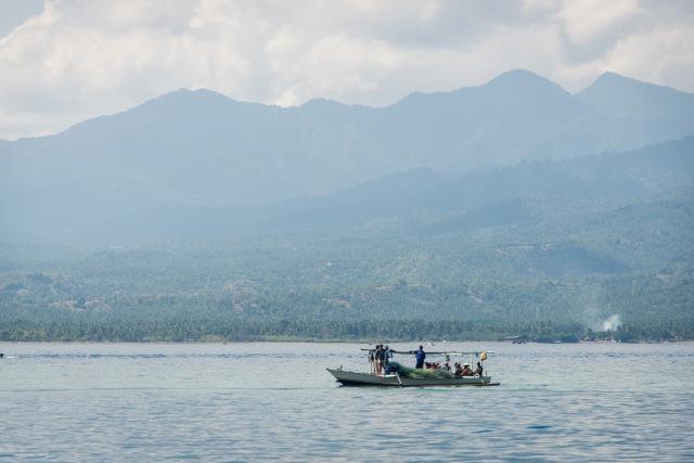 Boat near Lombok, Indonesia