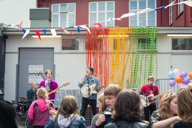 Icelandic Band plays in Reykjavik