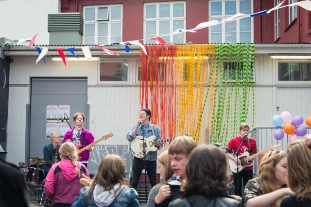 Icelandic Band plays in Reykjavik