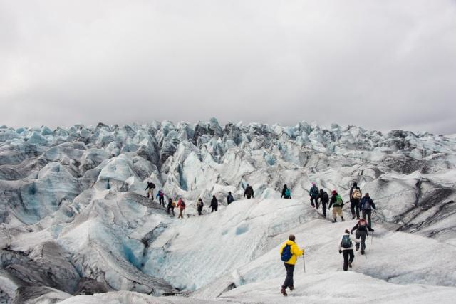 Glacier hike, Iceland