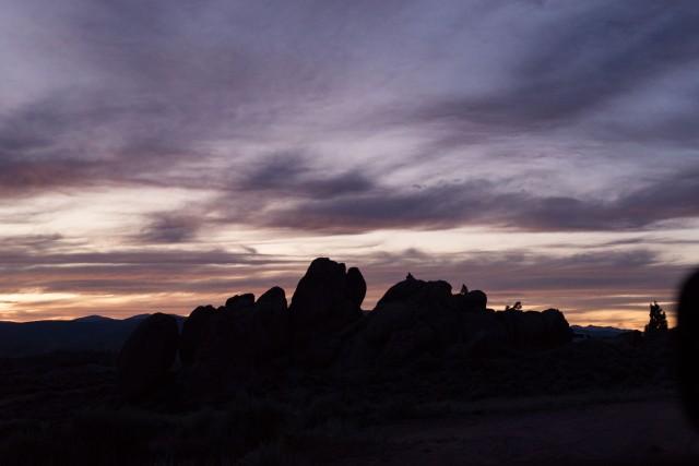 Sunset silhouette, Gunnison Colorado