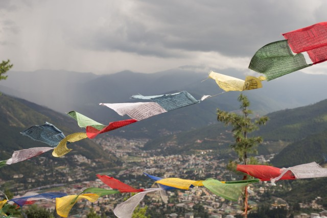 Prayer Flags over Thimphu, Bhutan