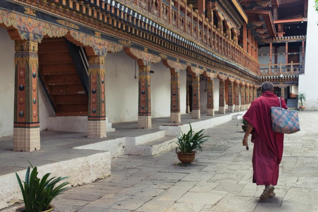 Monk at the Punakha Dzong