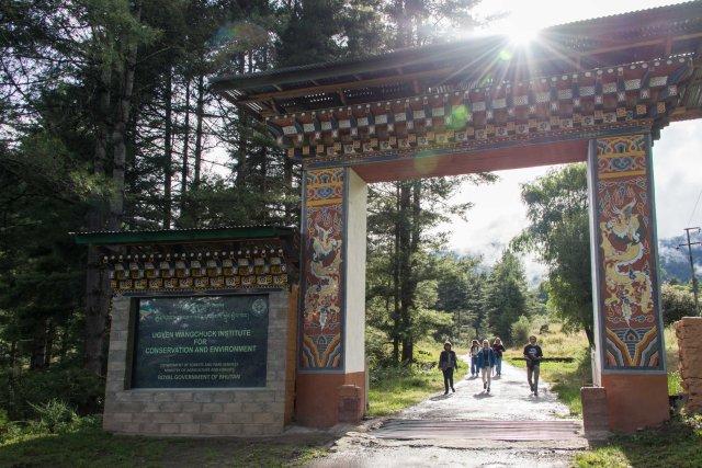 UWICE gate, Bhutan