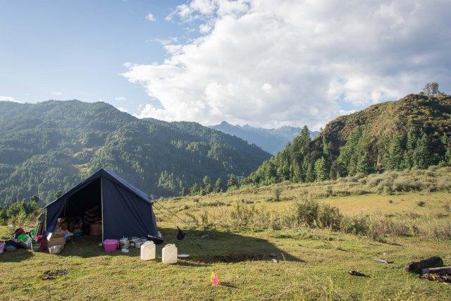 Camp, Bumthang Cultural Trek