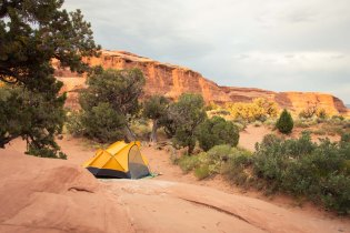 Devils garden campground in Arches National Park