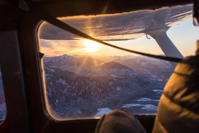 Sunrise Flight, Alaska