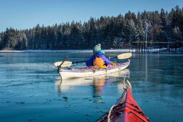 Kayak Winter Bartlett Cove