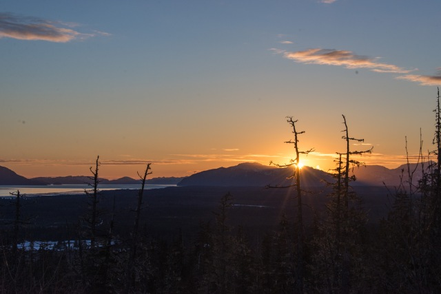 Sunset over Gustavus, Alaska